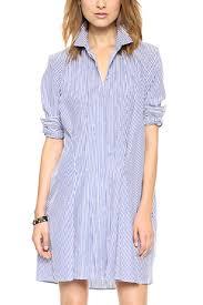 casual women blue white stripe shirt dress azbro com