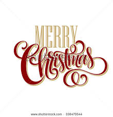 merry lettering design vector illustration stock vector