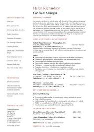 Sales Manager CV example  free CV template  sales management jobs     Car Sales Manager resume
