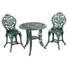 Tesco Bistro Chairs Buy Greenhurst Tulip Bistro Set Verdigris From Our Plastic Garden