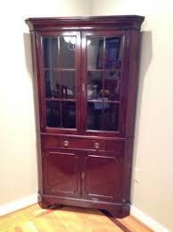 Used Corner Curio Cabinets For Sale Corner Hutch Furniture Ebay