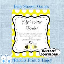 my water baby shower bumble bee my water sign bee baby shower cube