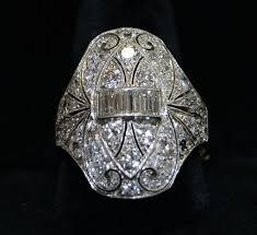 platinum antique art deco 1920 u0027s diamond dinner ring larchmont