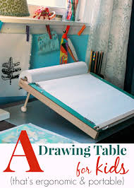 Ergonomic Drafting Table A Slanted Kids Drawing Table Ergonomic And Portable Artful Parent