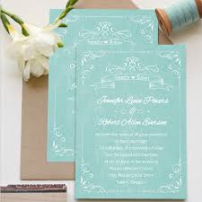 affordable vintage teal watercolor wedding invitations ewi338 as