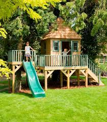 childrens garden tree house treehouses the playhouse company