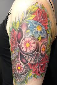 sugar skull temporary cool tattoos bonbaden