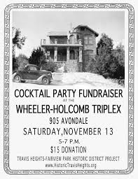 Cocktail Party Fundraiser - historic travis heights historic travis heights