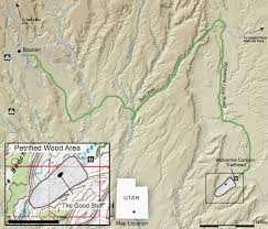 Capitol Reef National Park Map Geosights Wolverine Petrified Forest Garfield County U2013 Utah