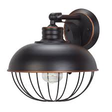 Wall Sconces Bronze Globe Electric Elior 1 Light Oil Rubbed Bronze Caged Wall Sconce