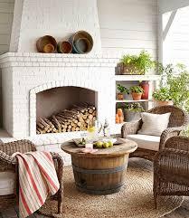 Outdoor Jute Rug Outdoor Living Room Wicker Brick Get The Look Cococozy