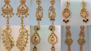 earing design gold earrings designs in less than one tola gold gold earring