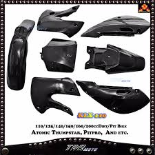 klx 110 plastics kit 125 140 150 160 200cc dirt bike dhz atomik