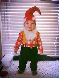 Gnome Toddler Halloween Costume Cuter Baby Dressed Gnome