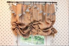 Balloon Shade Curtains Burlap Valance 16 Unique Diy Patterns Guide Patterns