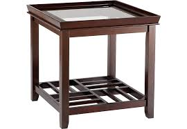 End Tables For Living Room Santos Espresso End Table End Tables Dark Wood