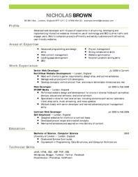 Free Online Resume Templates by Resume Example Developer Resume Example Emphasis Free Online