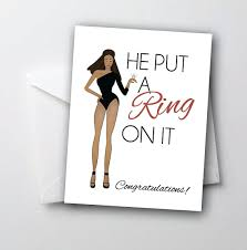 Congratulations On Your Engagement Card Funny Engagement Card Congratulations Card He Put By Thesourpeach
