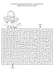 printable hard maze games free online printable kids games easter maze kids crafts
