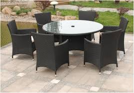 Round Wicker Patio Dining Set - outdoor dining sets black video and photos madlonsbigbear com
