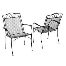 Patio Stack Chairs by Hampton Bay Nantucket Metal Outdoor Dining Chair 2 Pack 6990700