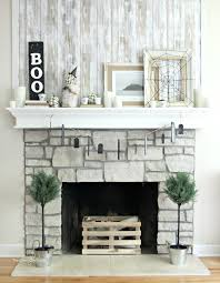 indoor halloween decorations a simple neutral mantel full of