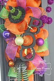 Where Can I Buy Home Decor Front Porch Decorations Alaynascreations Boo Door Wreath Deco Mesh