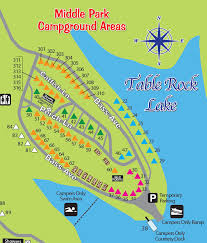 table rock lake map cground port of kimberling