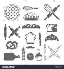 bakery pastries set vector design elements stock vector 314359004