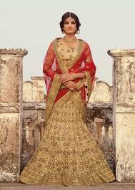 buy latest indian wedding lehengas online uk beige chaniya choli