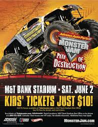 monster jam truck tickets advance auto parts monster jam path of destruction hits m u0026t