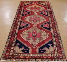 Persian Kilim Rugs by 4 X 10 Persian Hamedan Hand Knotted Wool Salmon Pink Navy Oriental