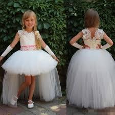 toddler white lace flower girls dresses for weddings tulle