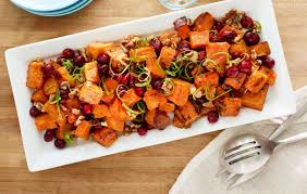 cuisine uip ik roasted potatoes with cranberry chipotle sauce recipe side