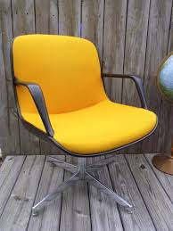 Steelcase Desk Vintage Yellow Chair