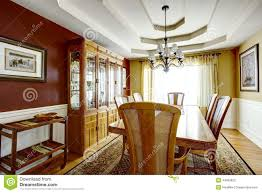 dining room with contrast color walls stock photo image 44363622