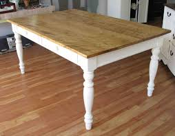 Natural Wood Dining Room Tables Marvelous White And Natural Wood Dining Table For Ingenious