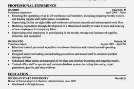 Warehouse Job Resume by Job Resume Sample Maintenance Supervisor Resume Maintenance