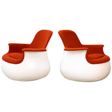 Knoll Rocking Chair Pair Of Culbuto Rocking Chairs By Marc Held Knoll At 1stdibs