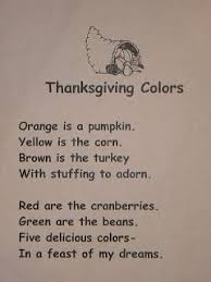 we read the abc s of thanksgiving and sang songs to the