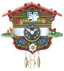 German Clocks Black Forest Pendulum Clock Quartz Movement 13cm By Trenkle Uhren