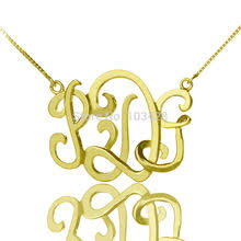 Monogrammed Necklace Popular Monogram Gift Buy Cheap Monogram Gift Lots From China