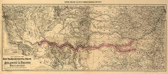 Railroad Map Atlantic U0026 Pacific Railroad Map 1883 Train Travel In The 1800 U0027s