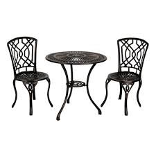 Cast Iron Bistro Table And Chairs Geometric Bronze Cast Iron Bistro Set Kirklands