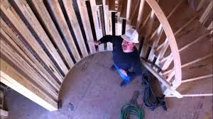 Radius Stairs by How To Build A Circular Staircase Youtube