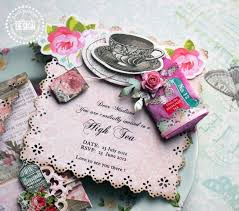 you are invited high tea invitations pink paislee
