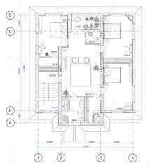 architecture plan en noir et blanc de 2 étage de la maison d u0027un