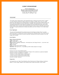 sample proposal for sponsorship for an event free letterhead