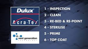 dulux acratex roof painting youtube