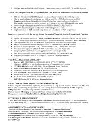 Noc Resume Examples by Noc Engineer Resume Sample